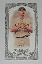 2012 Topps Allen and Ginter Justin Masterson Mini Black Card #126 Indians