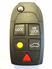 REPLACEMENT 5 BUTTON FLIP KEY FOB CASE FOR VOLVO S60 S80 XC90 REMOTE KEY