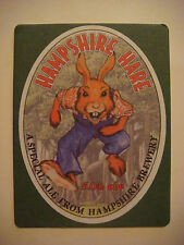 Beer Coaster Bar Mat  *  HAMPSHIRE Brewery 5% abv Hare Ale ~ Romsey, ENGLAND, UK