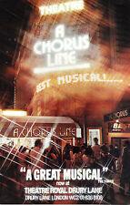 """Marvin Hamlisch """"A CHORUS LINE"""" Michael Bennett 1976 Original London Cast Flyer"""