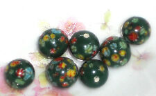 #1448L Vintage Millefiori Beads Glass Half Drilled Japanese millefiori 8mm NOS