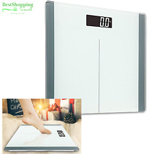 Digital LCD Bathroom Scale Body Fat Weight Watchers Electronic 400Lb 180Kg White