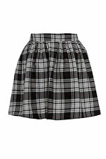 NEW WOMENS RED BLACK LADIES TARTAN SKATER MINI SKIRT ELASTICATED WAIST SIZE 8-16