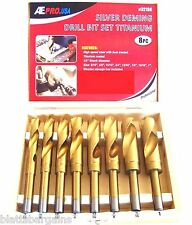 "8pc ATE PRO TITANIUM SILVER & DEMING 6"" HSS JUMBO DRILL BIT SET 32136  9/16 - 1"""