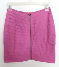NWT Urban Outfitters size SMALL pink tiered bodycon mini skirt clubbing sexy hot