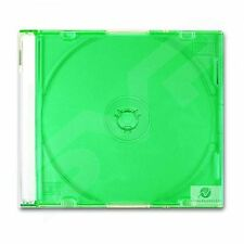 20 Single CD Maxi Jewel Case 5.2mm Spine Slim Green Tray New Empty Replacement