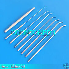 1-Hegar Dilators Set 8-Pieces Gynecology Surgical Instruments New