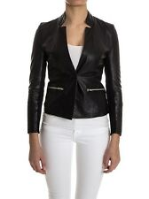 New Muubaa Batavia Leather Blazer Jacket in Black sz 10 uk £350