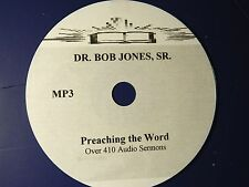 Dr Bob Jones Sr Over 410 Audio Sermoms MP3 format, CD
