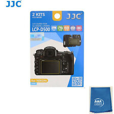 JJC LCP-D500 ultra hard polycarbonate LCD Film Screen Protector NIKON D500 2 PAK
