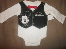 NWOT Disney Baby Mickey Mouse My First Christmas 0-3 month One Piece Creeper
