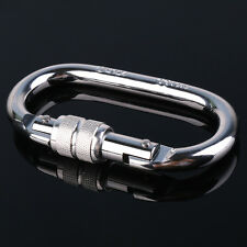 Sliver Camp Oval Compact Lock Climbing and Rescue Steel Carabiner