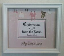 "Bible.Verse.Scripture Plaque Christian""CHILDREN ARE A GIFT""For It's A Girls-Baby"