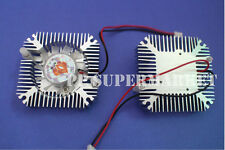 5pcs 5W 10W Power Heatsink with Fan Aluminium Cooler DC12V For 5W 10W Led