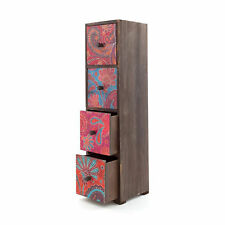 Indian Style Wooden Decorative Set of Drawers - Jewellery Make Up Bathroom - NEW