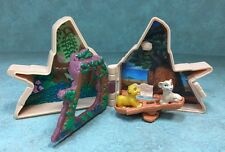 Vintage Mini POLLY POCKET Disney LION KING Pride Rock Set Compact Simba & Nala