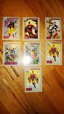 "DC COMIC COVERS 1991  ""EARTH'S MIGHTIEST HEROES"" 7 Cards in  Good Condition"