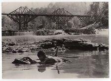 PHOTO ORIGINALE PLEIN CADRE/PONT DE LA RIVIERE KWAI/BRIDGE RIVER KWAI/A.GUINNESS