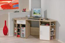 Schreibtisch Eckschreibtisch Büromöbel Bürotisch Arbeitstisch Büro Sonoma weiß