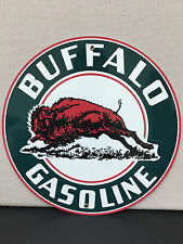Buffalo gasoline sign man cave advertising  round