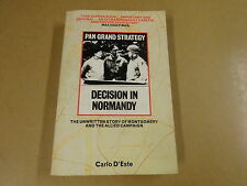 BOOK / CARLO D'ESTE - DECISION IN NORMANDY