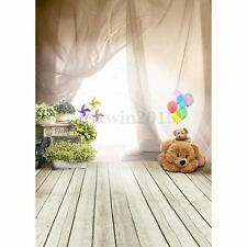3x5FT Vinyl Lovely Ballon Bear Floor Studio Backdrop Kids Photography Background