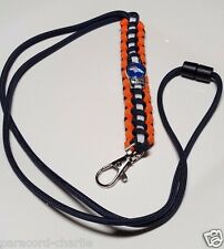Denver Broncos Orange, Navy Blue & White Historic Superbowl 50 Paracord Lanyard