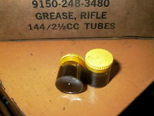 LOT OF TWO SMALL PLASTIC  GREASE POTS  2-1/2 C C RIFLE GREASE