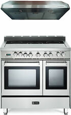 """Verona VEFSEE365DSS 36"""" Electric Double Oven Range Stainless 2pc Kitchen Package"""