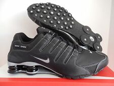 MEN'S NIKE SHOX NZ BLACK-METALLIC SILVER-ANTHRACITE SZ 12 [378341-090]