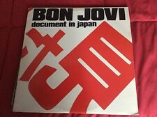 Bon Jovi - Document In Japan  2 Lp Super Rare!!!!! Ex/near Mint