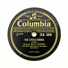 "BILLIE ANTHONY ""Ten Little Kisses / The Banjo's Back In Town"" COLUMBIA [78 RPM]"