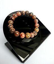 Bracelet Minéral Lithothérapie Jaspe Orbiculaire Bijoux en Pierre Naturelle