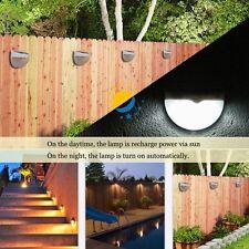 6LED Lamp Lumière Sensor Solaire Energie Jardin Maison Outdoor Extérieur Etanche