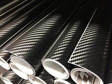 Carbon Fibre Vinyl Sheet Film Wrap Black 1480MM x 300MM Air/Bubble Free