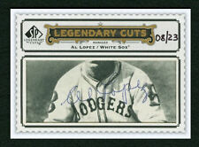 AL LOPEZ 2009 SP LEGENDARY CUTS 08/23 CUT AUTO AUTOGRAPH SIGNED BROOKLYN DODGERS