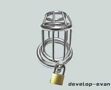 Stainless Steel Male ToolTrap Chastity device Domina Lock New A158