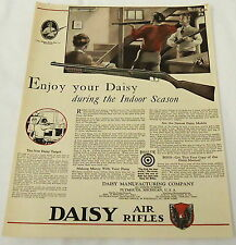 1931 Daisy Air Rifle bb gun ad page~ ENJOT YOUR DAISY DURING THE INDOOR SEASON