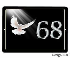 House,door name/number/road Plaque/sign/plate 7x5inch Aluminium Various Birds