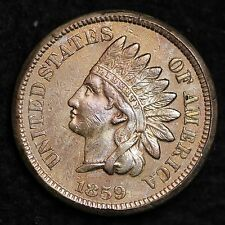 1859 Indian Head Small Cent Choice Unc Free Shipping E110 Lt