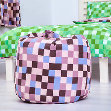 Brown Earth Pixels Childrens Filled Beanbag Kids Bedroom Play Room Bean Bag Game