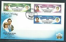 SEYCHELLES Diane and Charles Royal Wedding First Day Cover 2 MNH