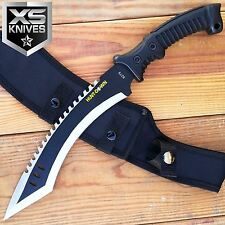 "15"" FIXED BLADE Tactical Outdoor KUKRI RAMBO Hunting Survival MACHETE Knife"