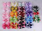"Lot 23 Boutique Girl toddler baby 4"" Hair Bows clip Grosgrain Ribbon #1200"