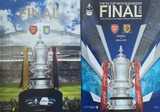 * 2014 & 2015 FA CUP FINAL PROGRAMMES  BOTH OF ARSENAL'S BACK TO BACK CUP WINS *