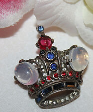 OLDER CROWN TRIFARI SIGNED STERLING PIN WITH PAT..NUMBER-STUNNING!!!!!!