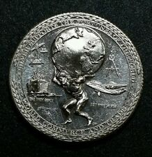 Retro☆ Atlas ☆ Silver Supports The Fortunes Of The World .999 Fine Silver Coin
