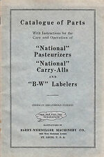 BARRY-WEHMILLER MACHINERY CO., DISTILLING, PASTEURIZING & BOTTLING CATALOG c1920