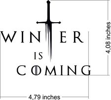 Decorative sticker car Game of Thrones Winter is coming, DECAL, RACE, UNIQUE,