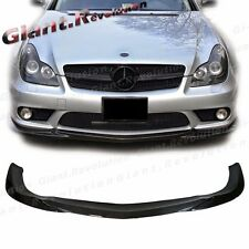 GH Type Carbon Fiber Front Extension Lip For W219 BENZ 06-10 CLS55 CLS63 Bumper